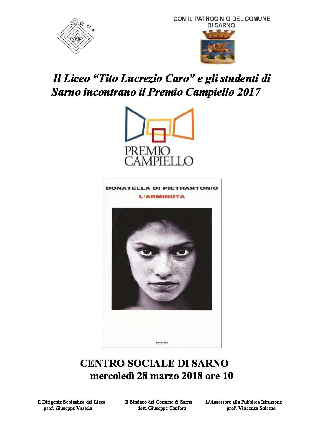 """Presentazione del volume """"L'Arminuta"""""""